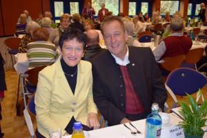 Auch ihnen ist die Seniorenarbeit ein großes Anliegen: Inge Aures, Vizepräsidentin des Bayerischen Landtags, und Ronny Reichenberg, Bezirksrat